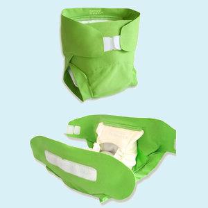 La couche-culotte Hamac <br/> Jetable ou lavable, c&#8217;est écolo-innovant !
